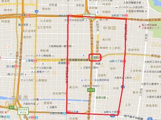 大阪市中央区松屋町周辺地図(Google Map)