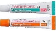 プロトピック軟膏0.1%とプロトピック0.03%小児用