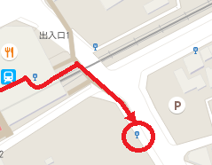 阪急六甲駅からケーブル下行きバス停までの経路図