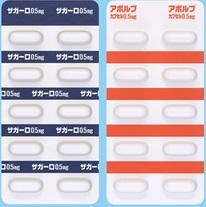 左:ザガーロ0.5mg、右:アボルブ0.5mg