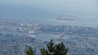 六甲山から見る六甲アイランド