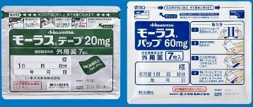モーラステープ20mgとモーラスパップ60mg