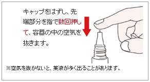 ルリコン液の使い方(空気抜きの方法)