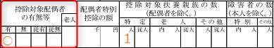 源泉徴収票「控除対象配偶者の有無」