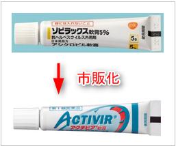 アクチビア軟膏はゾビラックス軟膏の口唇ヘルペス市販薬