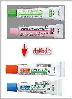 アラセナAの口唇ヘルペス市販薬がアラセナS