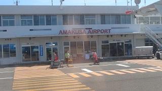 天草空港(機内から)