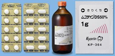 ムコダイン錠、シロップ、DS