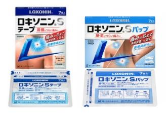 (市販)ロキソニンSテープとロキソニンSパップ